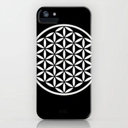 Flower of Life Yin Yang iPhone Case