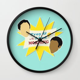 Community Troy & Abed in the Morning Wall Clock