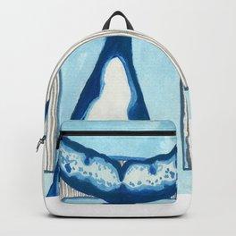 H is for Humpback Whale Letter Alphabet Decor Design Art Pattern Backpack