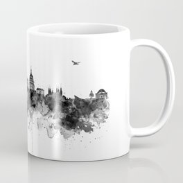 Washington DC Skyline Black and White Coffee Mug