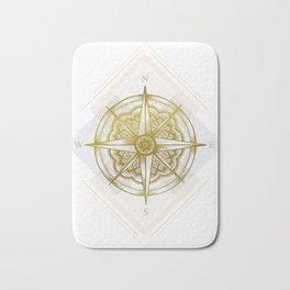 Golden Compass Bath Mat