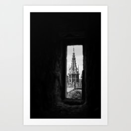 cardiff from the tower Art Print