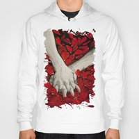 hands Hoodies featuring Hands by MARIA BOZINA - PRINT