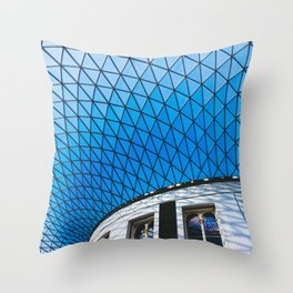 Great Court at the British Museum, London Throw Pillow