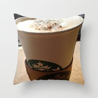 starbucks Throw Pillows featuring Starbucks by Josj