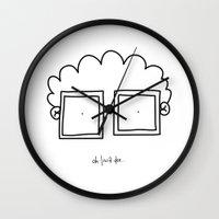 nerd Wall Clocks featuring NERD by olivia homar
