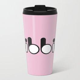 Oibbio Logo (Pink) Metal Travel Mug