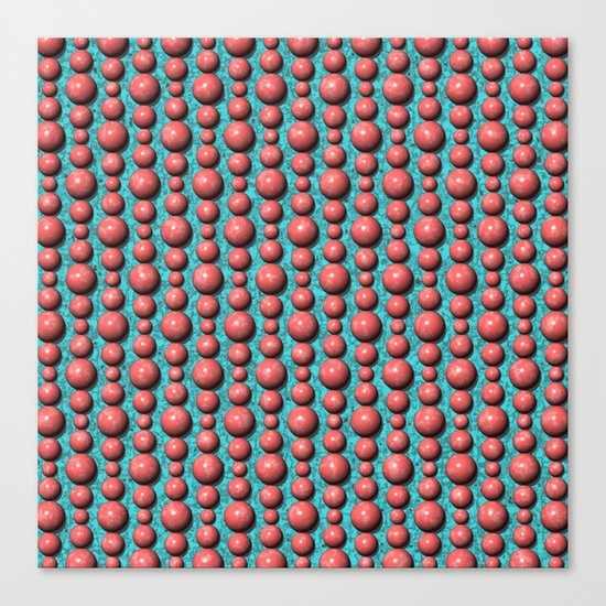 Bead Pattern, Coral & Turqoise Canvas Print