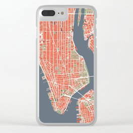 New York city map classic Clear iPhone Case