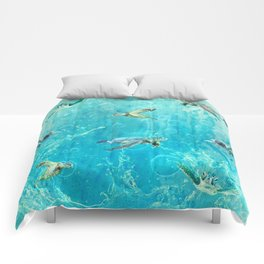 Swimming Turtles Comforters