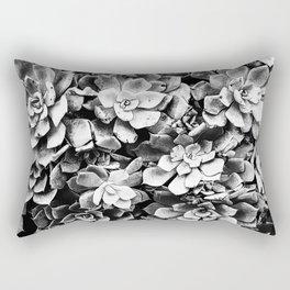 Black And White Plants Rectangular Pillow