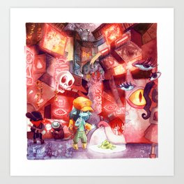 Spaceport Janitor Art Print