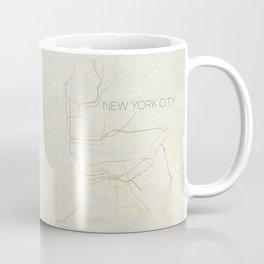 Minimal New York City Subway Map Coffee Mug