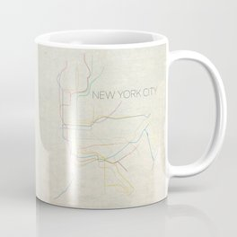 Minimal New York City Subway Map Coffee Mug