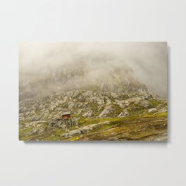 foggy day in the norwegian mountains  | nature photo | fine art photo print | travel photography Metal Print