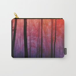 Whispering Woods, Colorful Landscape Art Carry-All Pouch