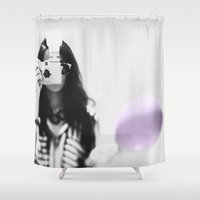 cameras Shower Curtains featuring Cameras & Playthings by Shaunie_Connie