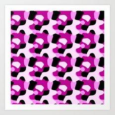 Pink Camo Pattern Art Print