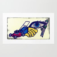 motorcycle Area & Throw Rugs featuring Motorcycle by Funniestplace