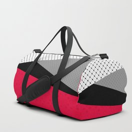 Red black white abstract . Duffle Bag