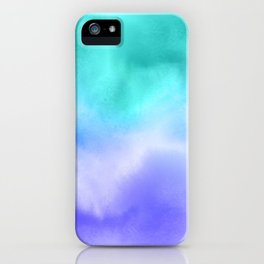 Blue Abstract Sky iPhone Case