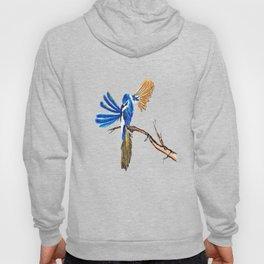Dancing Blue Fairy Wren Australian Bird Hoody