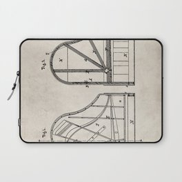 Steinway Grand Piano Patent - Piano Player Art - Antique Laptop Sleeve