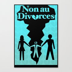 Divorce Poster Canvas Print