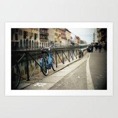 Milano Navigli Bike Art Print