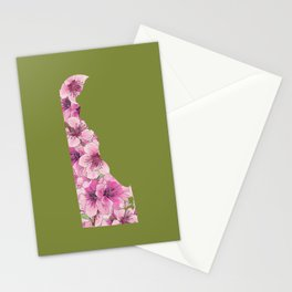 Delaware in Flowers Stationery Cards