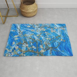 Vincent van Gogh Blossoming Almond Tree (Almond Blossoms) Windswept Rug