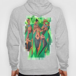 Three Ethnic Traditional Black Women Dancing Hoody