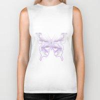 battlestar galactica Biker Tanks featuring Galactica Purple Butterfly by Tiffany 10