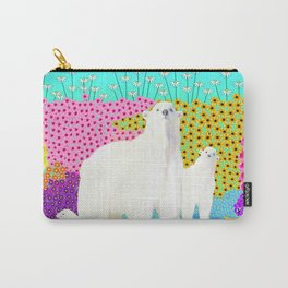 Cute Flowers and Bears Carry-All Pouch
