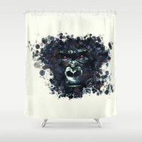 gorilla Shower Curtains featuring Gorilla by Rene Alberto