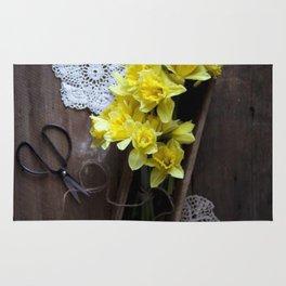 Rustic Daffodils Rug
