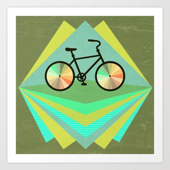 wanna ride my bicycle Art Print