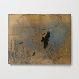 A Vintage Flight Of The Crows Metal Print