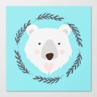 polar bear Canvas Prints featuring polar bear by Taranta Babu