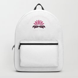 More compassion, less hate | lotus - Inspirational, Karma, Spiritual Design Backpack