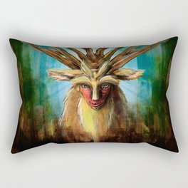 Princess Mononoke The Deer God Shishigami Tra Digital Painting. Rectangular Pillow