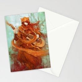 wandering minstrel Stationery Cards
