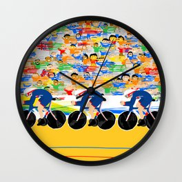 Cycling Wall Clock