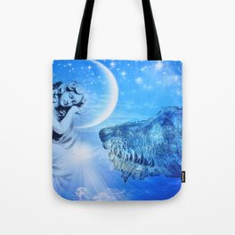 Irish Wolfhound Guardian Tote Bag