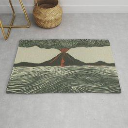 Volcano Woodcut Rug