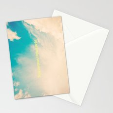 The sky is everywhere, it begins at your feet. Stationery Cards