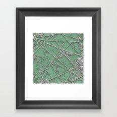 Sparkle Net Mint Framed Art Print