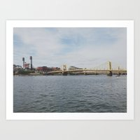 pittsburgh Art Prints featuring PITTSBURGH by Sara Miller