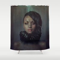 raven Shower Curtains featuring Raven by Flo Tucci