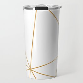 geometric gold and white Travel Mug